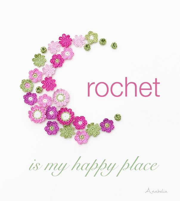 Crochet is my happy place, Anabelia Craft Design