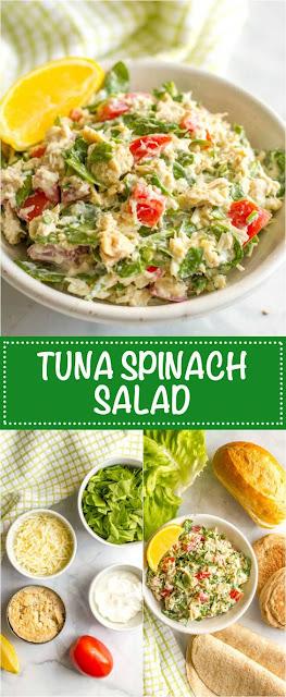 Tuna Spínach Salad
