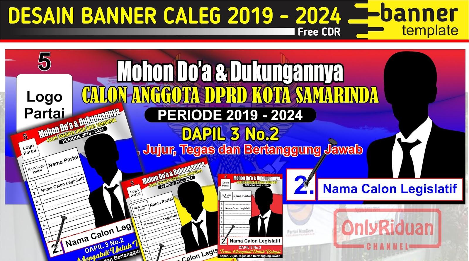 Desain Banner Caleg 2019-2024 (Template Banner ...