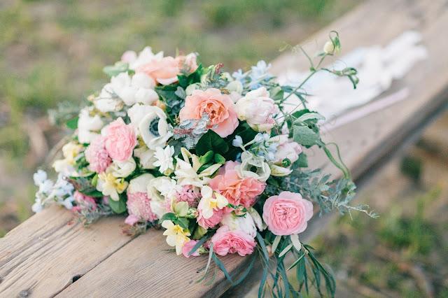 Fleurie garden style wedding bouquet