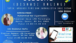 Gandeng LPM Paradigma, LPS Cendekia Gelar Diskusi Online Bersama