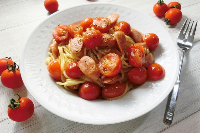 簡単味付けでおいしい!チェリートマトのペペロンチーノ