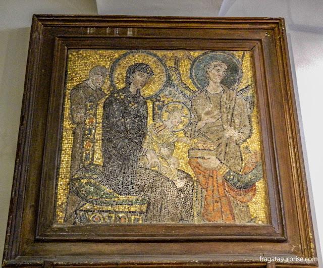 Ícone bizantino na Igreja de Santa Maria in Cosmedin, em Roma