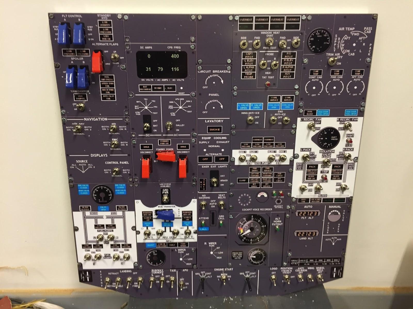 Bedienpanels Anzeigen Cockpit Instrumente selbstklebend Variante A