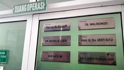 nama-nama wakif di pintu ruangan RST dompet dhuafa
