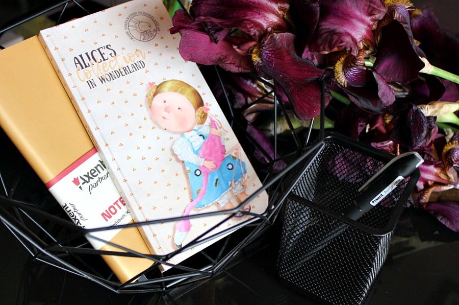 Канцелярия AXENT: Книга записная Axent Partner Soft, книга записная Alice, ручка гелевая и подставка / обзор, отзывы