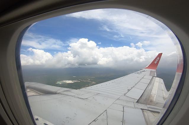 Belitung dari jendela pesawat