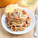 Creamy One-Pot Spaghetti with Italian Sausage