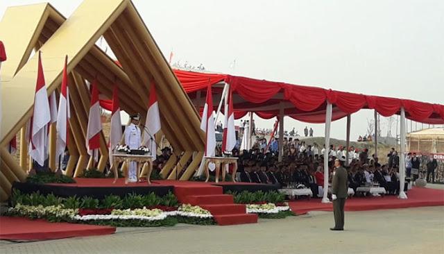 Ups.. Komandan Upacara HUT RI Pemprov DKI Salah Sebut Usia Kemerdekaan