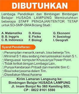 Bimbingan Belajar HUSADA Lampung