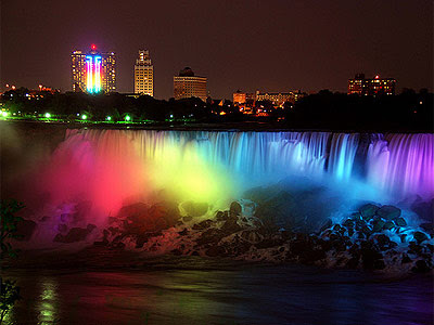 Free Animated Fall Wallpaper High Definition Backgrounds Niagara Falls At Night