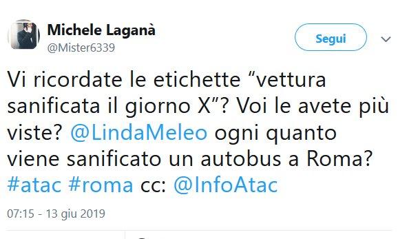 Situazione Trasporto Pubblico Roma giovedì 13 giugno
