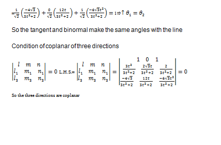 Direction cosines of the tangent,principal normal and binormal