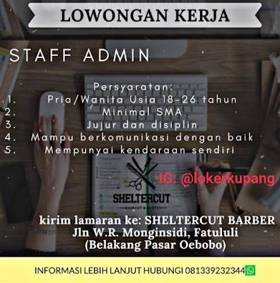 Lowongan Kerja Sheltercut Barber Sebagai Staff Admin