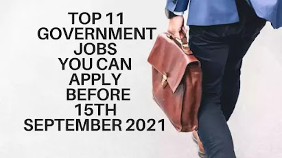 Top 11 Government Jobs