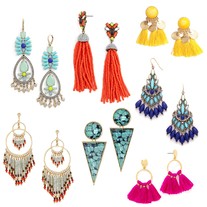 Brighten up your summer look with these statement earrings