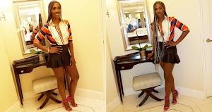 Tiwa Savage Stuns in sexy mini Skirt And Unbuttoned Shirt (Photos)