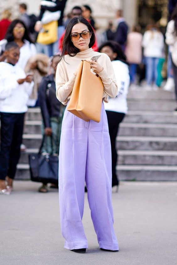 LILAC STREET STYLE FASHION TREND
