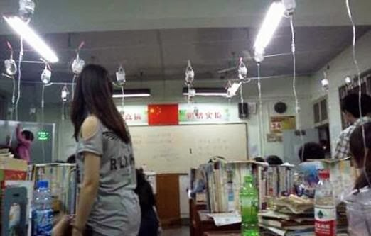 Photos of Chinese Students Cramming for Exams Hooked to IVs Spark Controversy