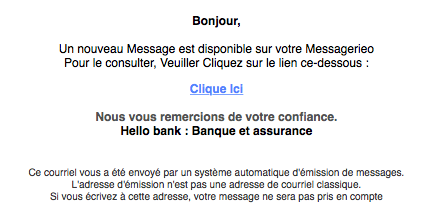un nouveau messange est disponible sur votre messagerie hellobank phishing hello bank scam. Black Bedroom Furniture Sets. Home Design Ideas
