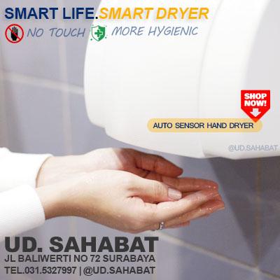 jual hand dryer pengering tangan otomatis surabaya toko UD SAHABAT Baliwerti