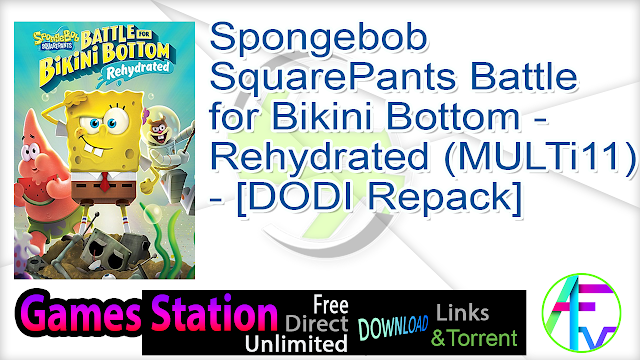 Spongebob SquarePants Battle for Bikini Bottom – Rehydrated (MULTi11) – [DODI Repack]