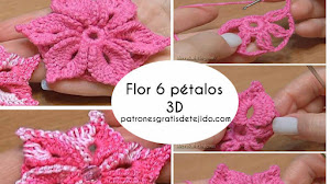 Flor de 6 pétalos en 3D - video tutorial