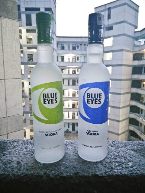 Blue Eyes Vodka: Green Apple (Left) & Pure Grain (Right) | Foddaholix