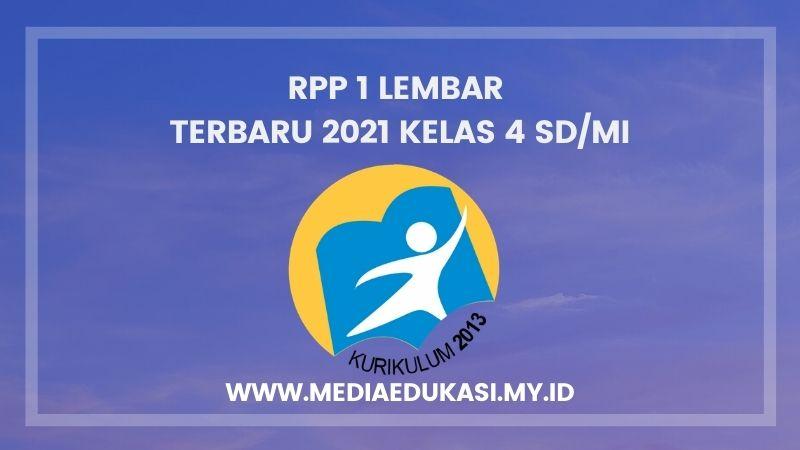 RPP 1 Lembar Terbaru 2021 Kelas 4 SD/MI