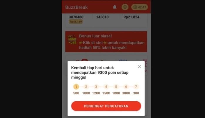 cara menghasilkan uang dari BuzzBreak