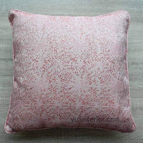 Pink Patterned Lip Cord Finish Throw Pillow, Pillow Covers in Port Harcourt, Nigeria
