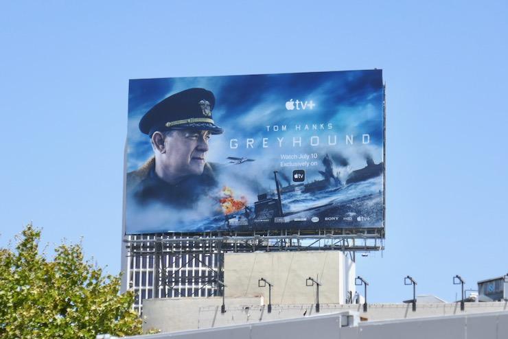 Greyhound Apple TV film billboard