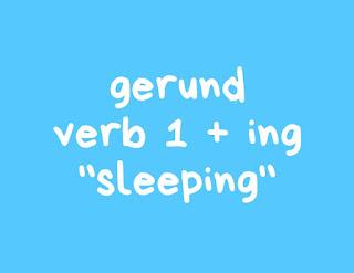 Penggunaan Gerund Verb+ing