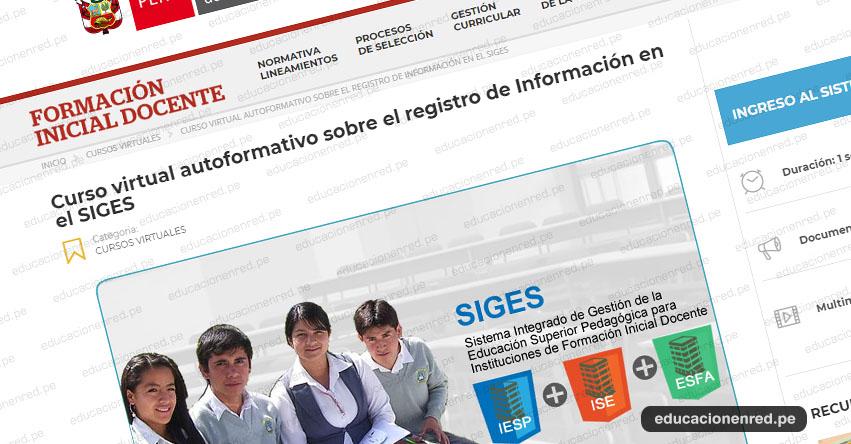 SIGES: Inscripciones abiertas para curso virtual dirigido a directivos, docentes y administrativos de IESP