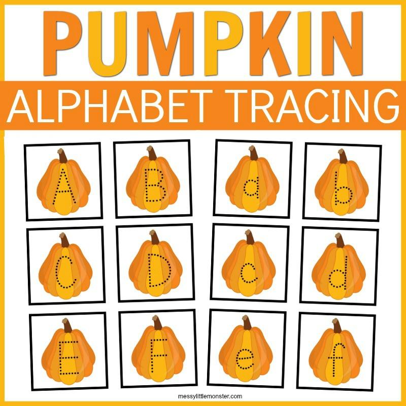 pumpkin tracing activity for kids