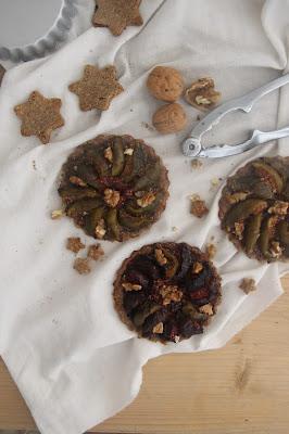 Tartelettes figues et noix (vegan)