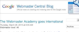 google seo blog webmaster