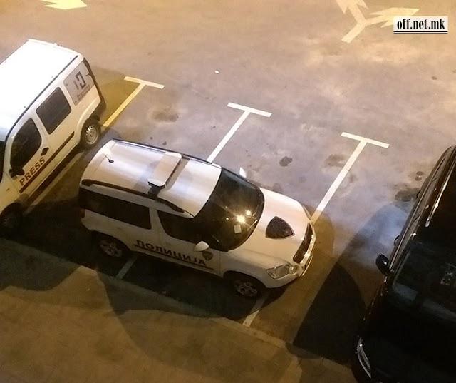 Bild des Tages - Mazedonische Polizei kann auch quer parken