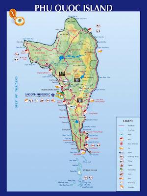 Mapa de Isla Phu Quoc (Vietnam)