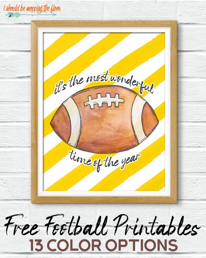 Free Football Printables
