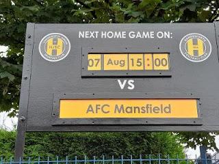 Next Match Board, Handsworth FC, Sheffield