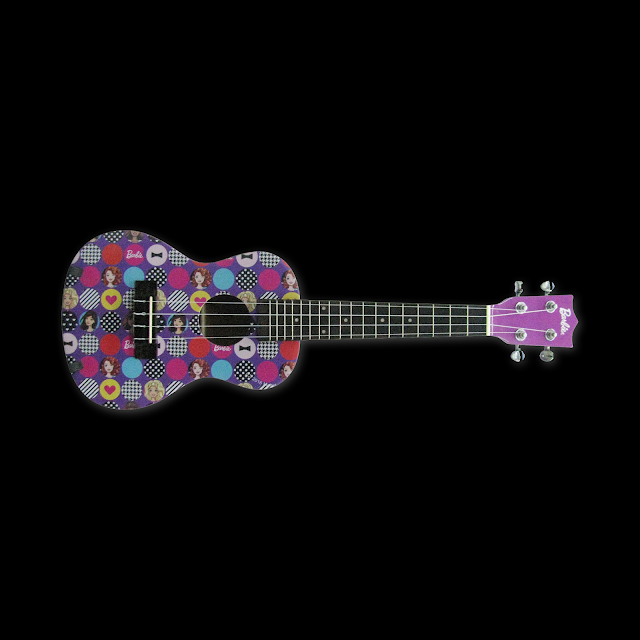 D&D Custom Guitars Barbie DBA Ukulele Printed Violet ranneveryday