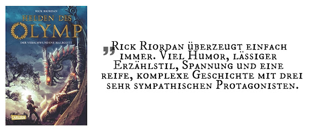 """Highlight September 2017: """"Helden des Olymp 1: Der verschwundene Halbgott"""" von Rick Riordan"""