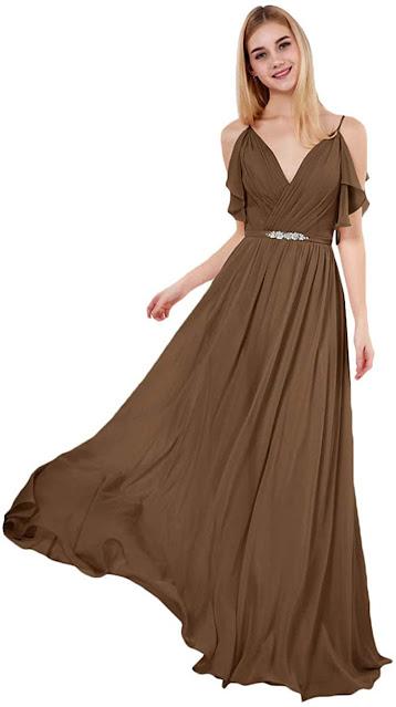 Cheap Brown Chiffon Bridesmaid Dresses