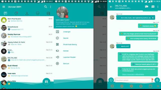BBM Mod NAF-Chat v1.0.0 Series MiniTeal