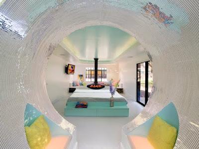 Decoración de casa futurista.