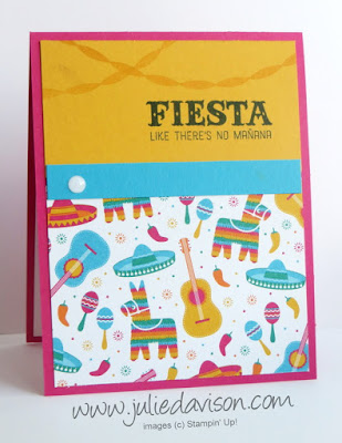 Stampin' Up! Birthday Fiesta Birthday Card ~ Retring Favorites ~ www.juliedavison.com