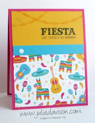 Stampin' Up! Birthday Fiesta Birthday Card ~ Retring Favorites ~ www.juliedavison.com