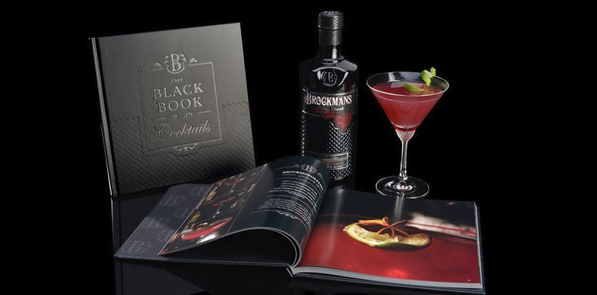 The Black Book of Gin Cocktails by Brockmans