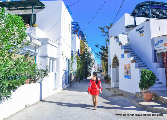 street in Naxos Greece